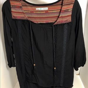 🌷Maurices Navy Blue Quarter Sleeve Blouse